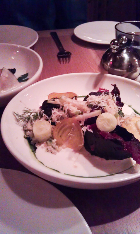 Crisped Beets at Narcissa, Soho